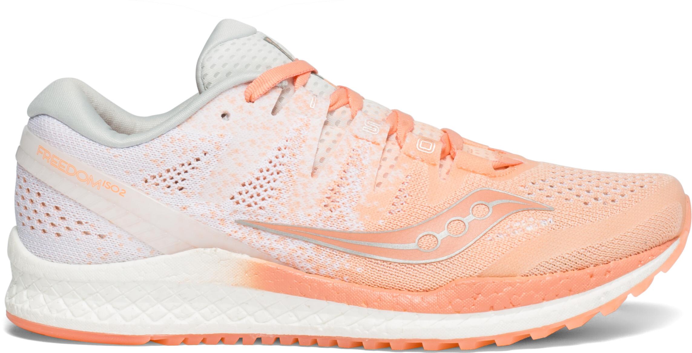 3aa1c69a410d saucony Freedom ISO 2 Shoes Women, peach/white - Boutique de vélos ...